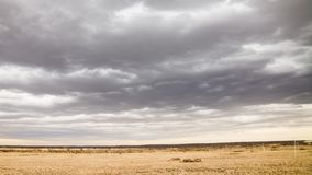 Входящие облака около Palmdale CA видеоматериал