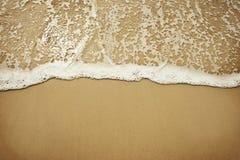 Входящий пляж волны Стоковое Фото