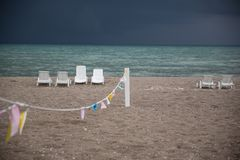 Входящий шторм в конце лета Стоковые Фотографии RF