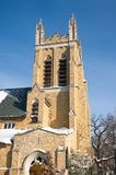 Вход башни и угла церков ориентир ориентира Стоковое фото RF