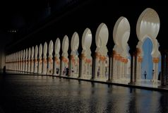 Вход большой мечети стоковое изображение