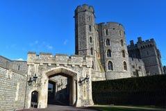 Вход Великобритании замка Виндзор стоковое фото