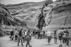 Вход верхнего каньона антилопы - СТРАНИЦЫ, США - 29-ОЕ МАРТА 2019 стоковая фотография