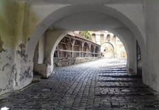 Вход в цитадель Sighisoara стоковое фото rf