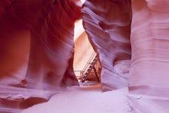 вход каньона антилопы понижает Стоковые Фото