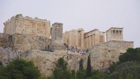 Вход к афинскому акрополю видеоматериал