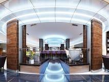 Вход к бару ресторан роскошного отеля в современном стиле бесплатная иллюстрация