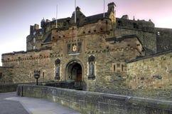 Вход к замку Эдинбурга, Шотландии стоковые изображения