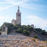 Вход к Ла Garde Нотр-Дам de наша дама предохранителя, католической базилики в марселе, Франции Стоковое фото RF