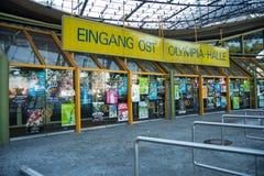Вход к Олимпии Галле в Мюнхене Стоковое Изображение