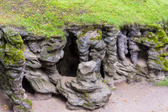 Вход к подземелью Mechowo - Польша Стоковые Изображения