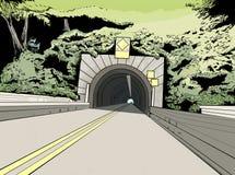 Вход к тоннелю на дороге стоковые изображения rf