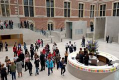 Вход к Rijksmuseum Стоковое фото RF