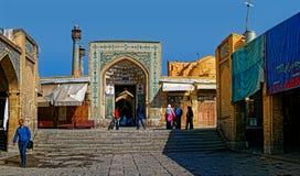 Вход мечети Isfahan старый Стоковые Фотографии RF