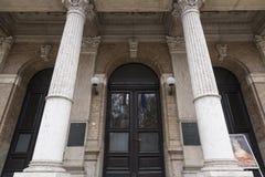 Вход на хорватские академию наук и искусства Стоковые Фото