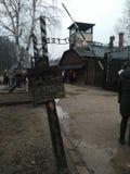 Вход Освенцима стоковое изображение