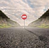 вход отсутствие движения дорожного знака Стоковые Фото