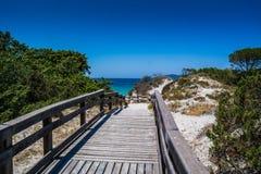вход пляжа к стоковое изображение rf