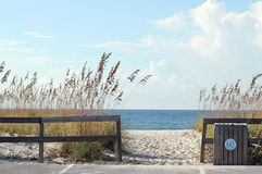Вход пляжа Стоковое фото RF