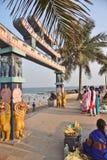 Вход пляжа Bhimili в Visakhapatnam стоковая фотография