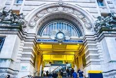 Вход станции Лондона Ватерлоо стоковые изображения rf