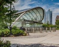 Вход станции метро дворов Гудзона стоковое изображение