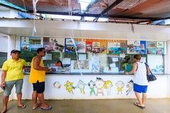 Вход счастливого тематического парка Dreamland в острове Boracay Стоковые Изображения RF
