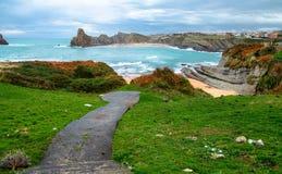 Вход травы к пляжу Стоковые Изображения