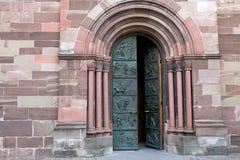 вход церков к Стоковая Фотография
