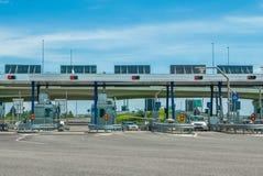 Вход шоссе платных ворота Стоковое Фото