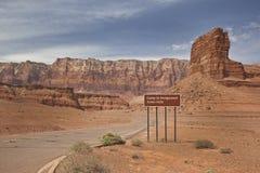 вход Юта пустыни кемпинга Стоковое Изображение