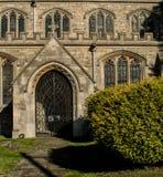 Вход Buckinghamshire церков Wingrave Стоковое Изображение RF