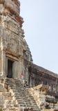Вход башни, Angkor Wat, Siem Reap, Камбоджа Стоковые Фотографии RF