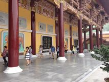 Вход буддийского монастыря Стоковые Фотографии RF