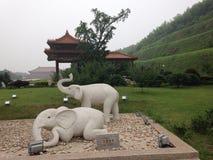 Вход буддийского монастыря Стоковые Изображения RF