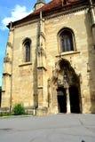 Вход в catolic церковь в cluj-Napoca, Трансильвании Стоковые Фото