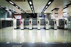 Вход железнодорожного вокзала Стоковое фото RF