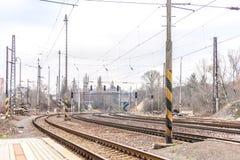 Вход железнодорожной станции Братиславы Lamac Стоковые Фотографии RF