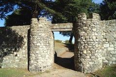 Вход замка Rochester в Англию Стоковые Изображения RF