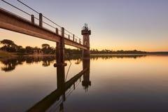 Вход запруды на восходе солнца Стоковое фото RF
