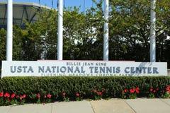 Вход короля Национальн Тенниса Центра Билли Джина в топить, NY Стоковые Фотографии RF