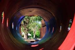 Вход красного и голубого скольжения стоковая фотография