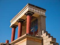 Вход Крит Греция дворца Knossos северный Стоковое Изображение