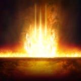 Вход к аду, Судному Дню, горящему входу к аду стоковые изображения