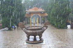 Вход к буддийскому монастырю Стоковые Фотографии RF