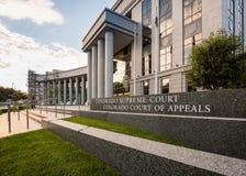 Вход к Верховному Суду Денверу Колорадо стоковая фотография rf