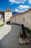 Вход к крепости Rasnov стоковое фото rf
