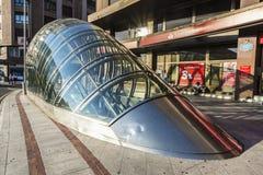 Вход к метро в Бильбао, Испании Стоковые Изображения