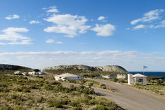 Вход к национальному парку Punta Loma, Аргентине стоковое фото rf
