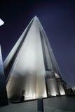 Вход к небоскребу Дубай стоковые фотографии rf